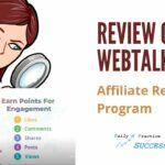 Cover review of Webtalk Affiliate reward Program