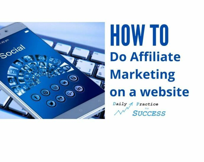 How to do Affiliate marketing on a website